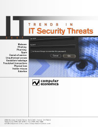 Trends in IT Security Threats: information security threats, computer security incidents, risk assessment
