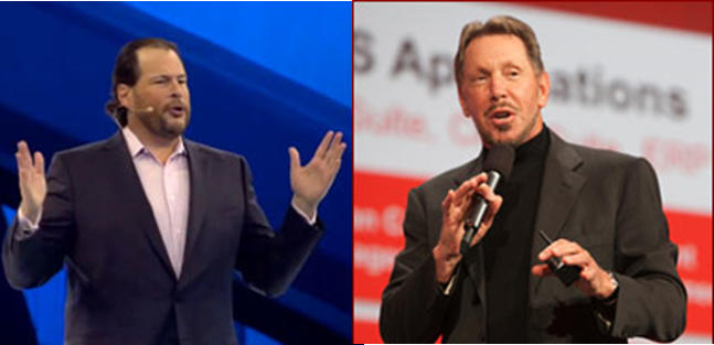 Marc Benioff, Larry Ellison